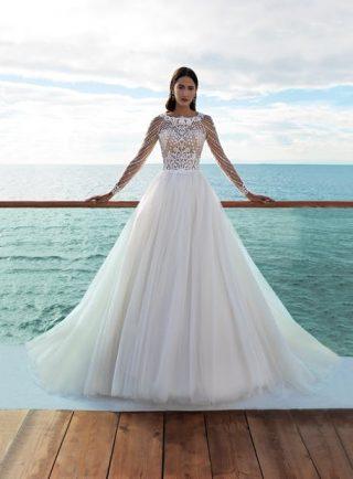 Suknie ślubne z błyszczącymi zdobieniami 2020