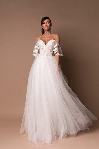 Tiulowe suknie ślubne trendy 2020