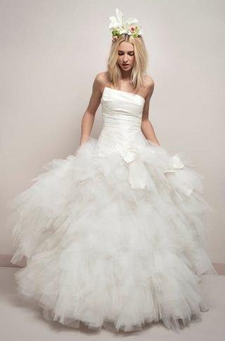 Suknie ślubne z tiulową spódnicą 2020