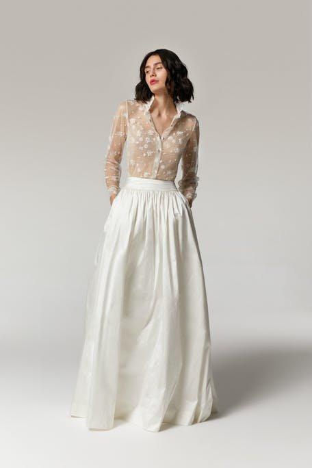 komplety ślubne spódnica 2021