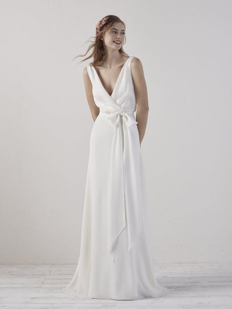 Suknie ślubne z wiązaniem na kokardkę 2020
