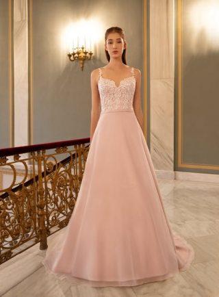 Różowe suknie ślubne 2020