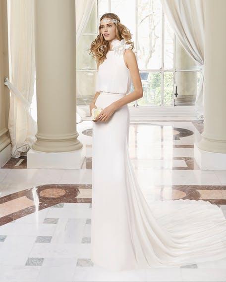 Suknie ślubne z kwiatem 3D 2020
