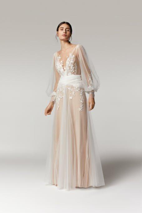suknia ślubna długi rękaw 2021