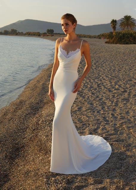 suknie ślubne tuby koronka 2021