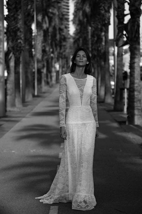 Koronkowe suknie ślubne trendy 2020