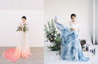 Suknie ślubne w kolorze - zdjęcie 4