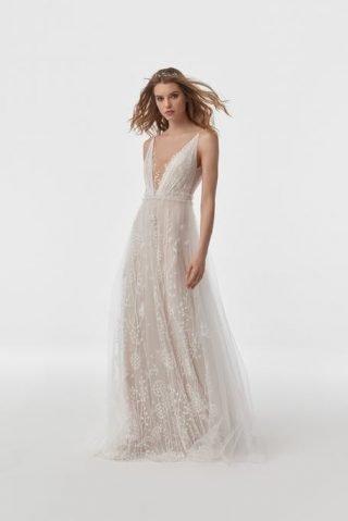 Nowoczesna suknia ślubna w stylu boho