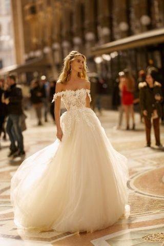 Suknia ślubna boho z tiulową spódnicą