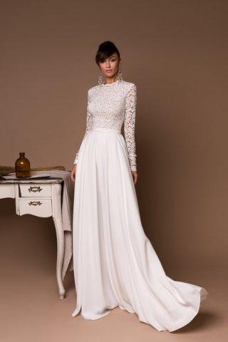 Suknie ślubne w stylu boho z długim rękawem