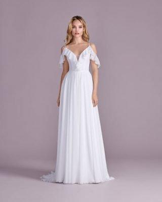 Suknia ślubna boho z falbankami