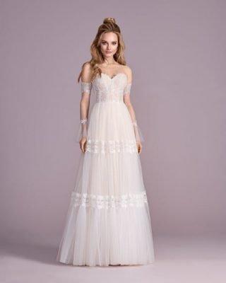 Nowoczesna suknia ślubna boho