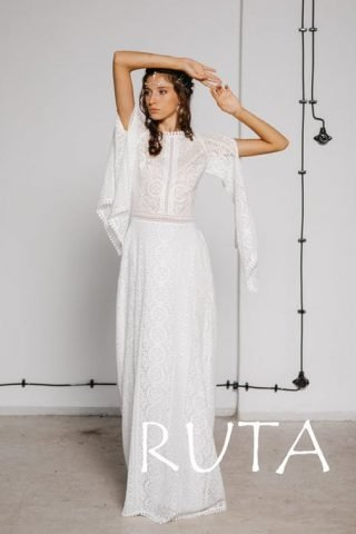 Suknia ślubna boho koronkowa