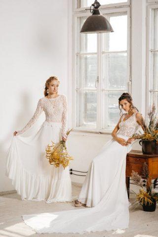 Suknie ślubne w stylu boho wykonane z koronki