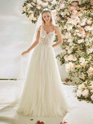 Suknia ślubna princesska w stylu boho