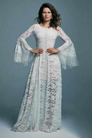 Boho suknia ślubna koronkowa