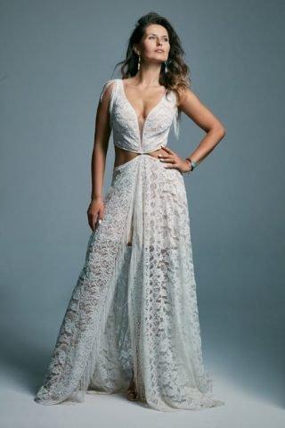Suknia ślubna w stylu boho festiwal