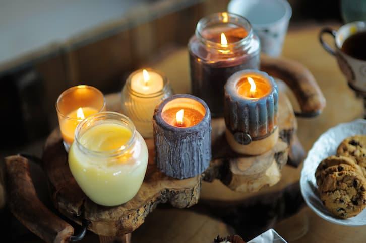 świeczki ślub w plenerze