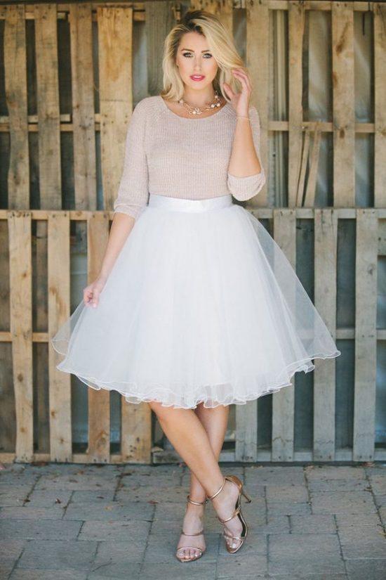 tiulowa sukienka na poprawiny