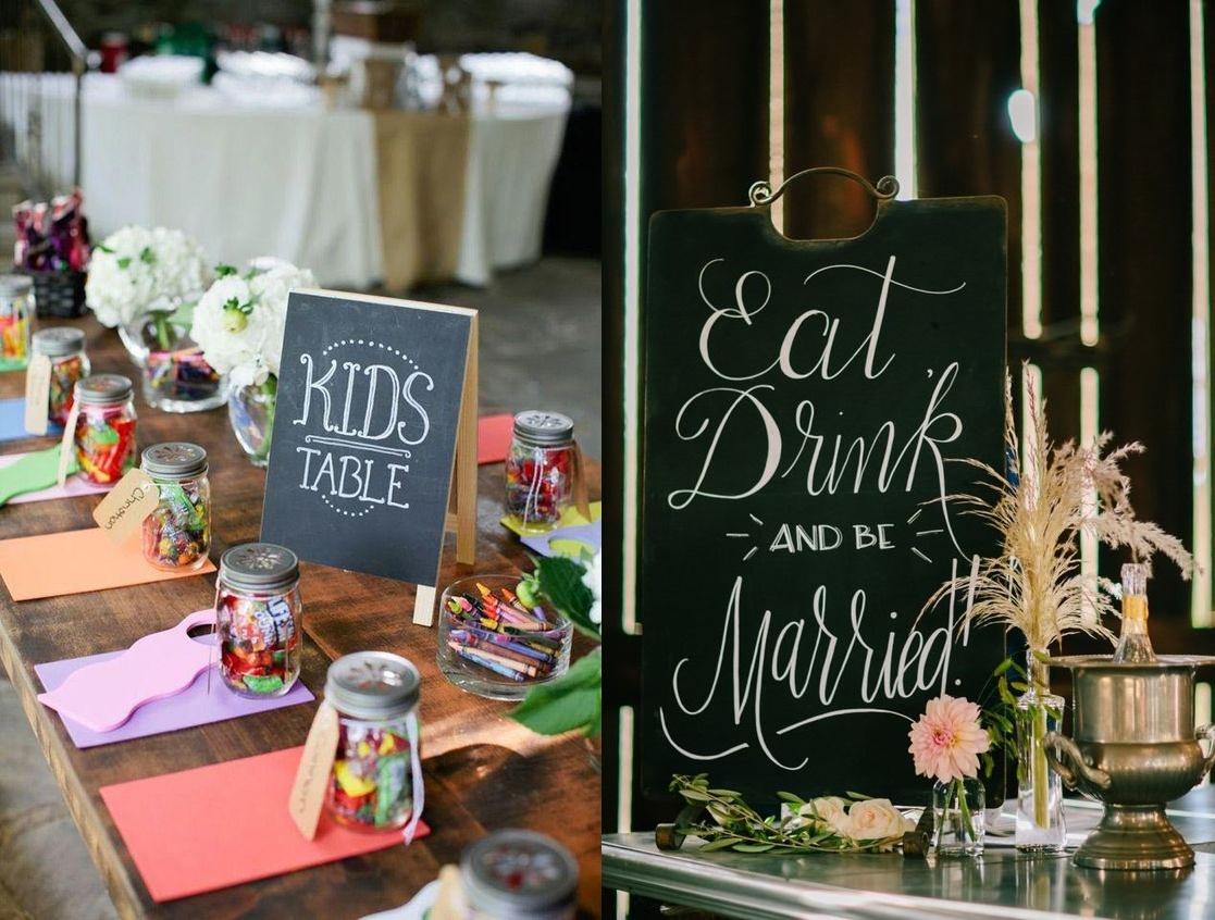 Tablice kredowe w roli dekoracji weselnych - zdjęcie 2