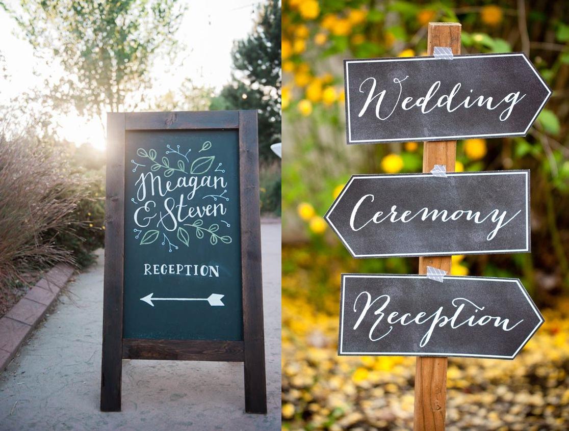 Tablice kredowe w roli dekoracji weselnych - zdjęcie 5