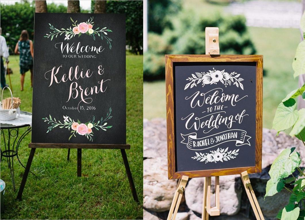 Tablice kredowe w roli dekoracji weselnych - zdjęcie 6