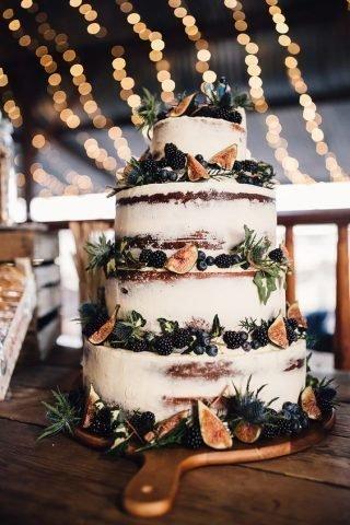 Tort weselny w stylu naked cake - zdjęcie 8