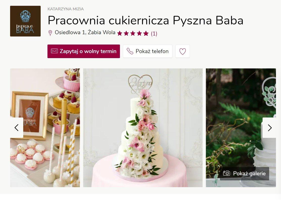 Pracownia cukiernicza Pyszna Baba