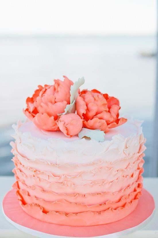 Torty weselne z falbankami - zdjęcie 2