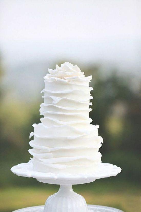 Torty weselne z falbankami - zdjęcie 3
