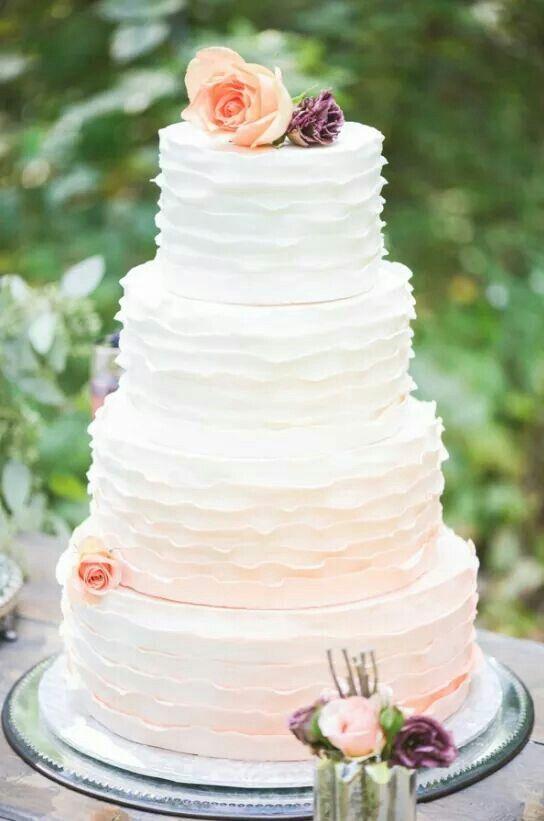 Torty weselne z falbankami - zdjęcie 5