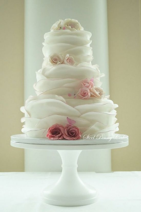 Torty weselne z falbankami - zdjęcie 9