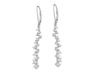 Biżuteria ślubna 2020 - srebrne kolczyki