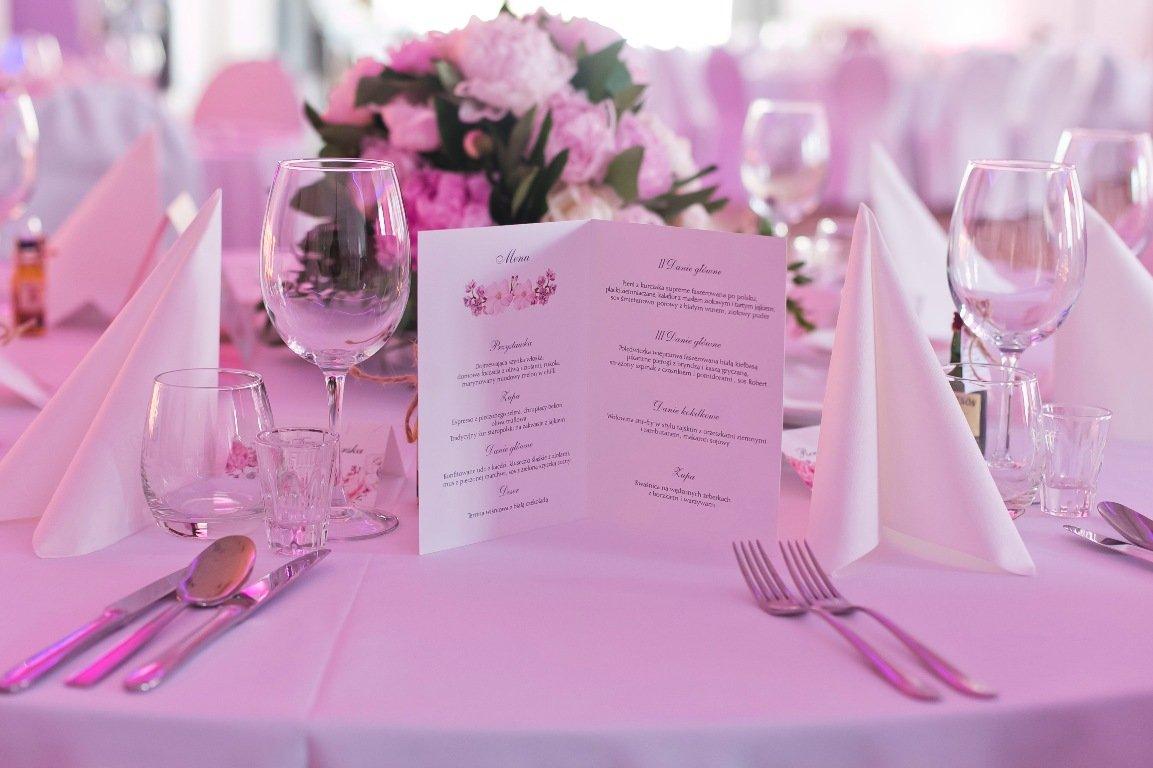 Menu weselne na stół
