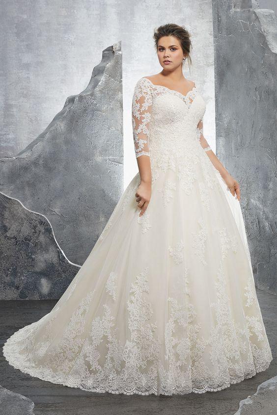 Suknie ślubne dla panien młodych o pełnych kształtach