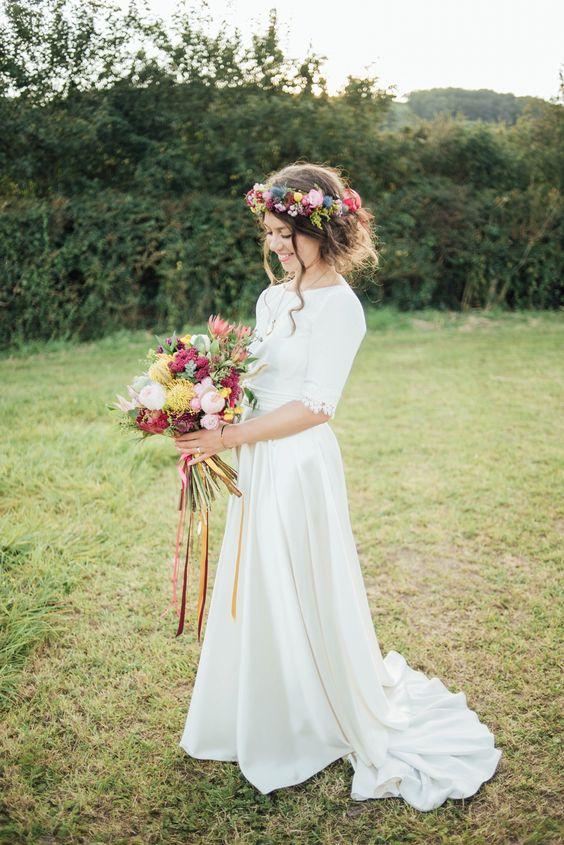 wiejska suknia ślubna