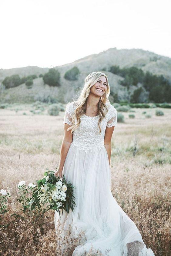 suknia ślubna w plener