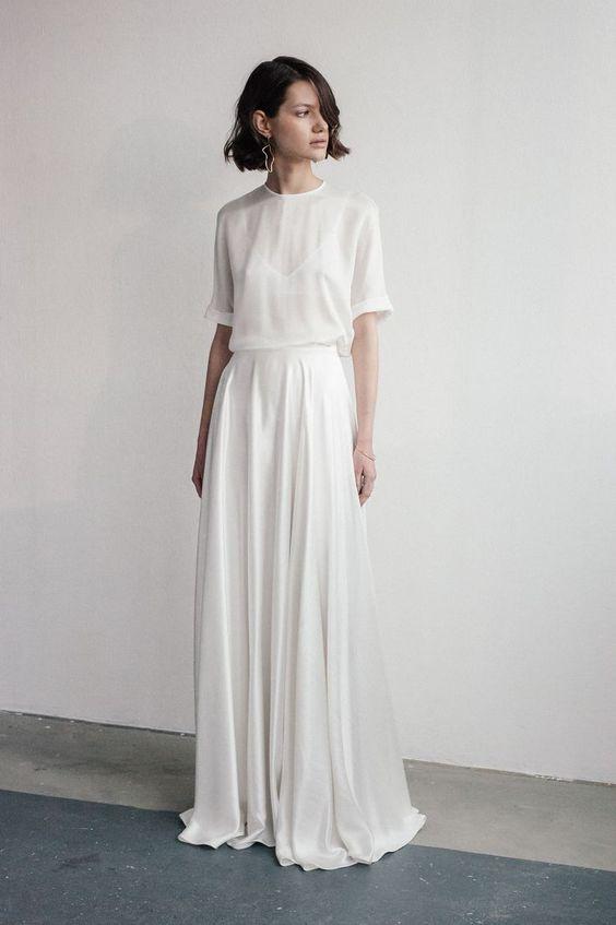 nowoczesna suknia na ślub cywilny