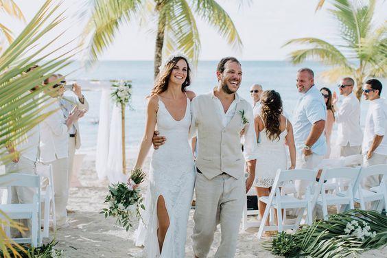 Mały ślub na plaży