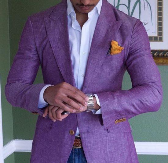 Strój Pana Młodego na poprawiny - kolorowy garnitur