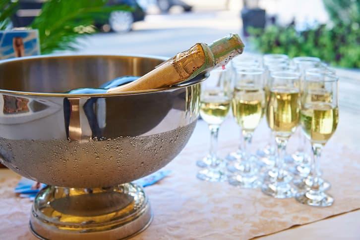 szampan wesele