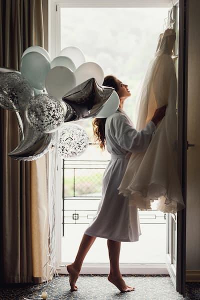 panna młoda balony przygotowania