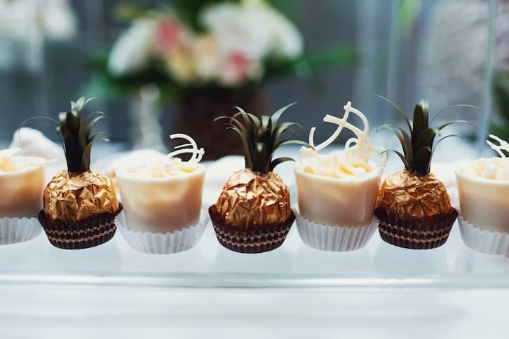 candy bar słodycze motyw wesela tropikalny