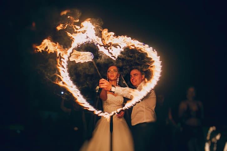 atrakcje na wesele fire show
