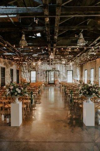 Przestrzeń na wesele w stylu industrialnym