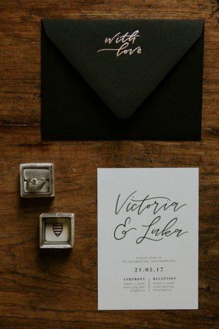wesele w stylu industrialnym - papeteria ślubna