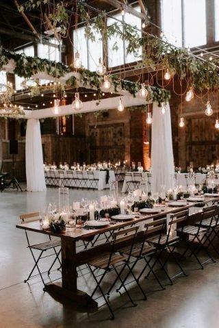 Sala na wesele w stylu industrialnym
