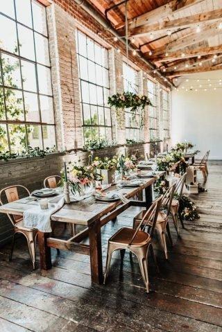 Sala weselna w stylu industrialnym