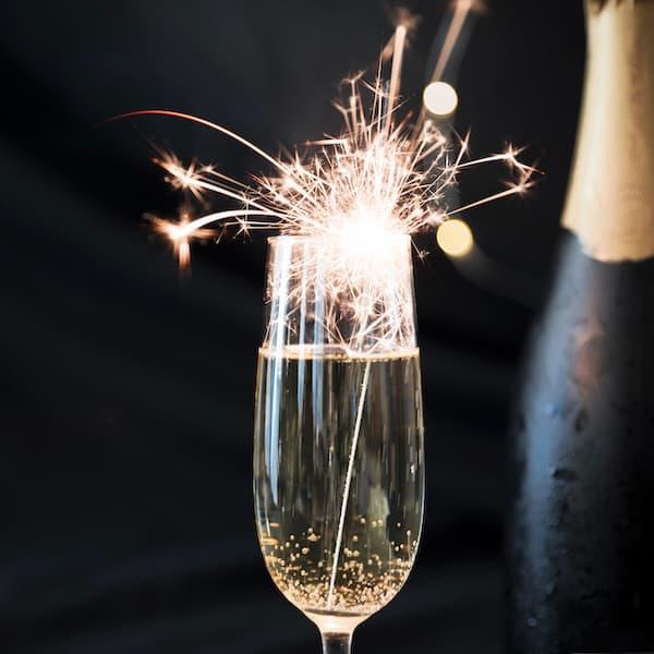 zimne ognie szampan