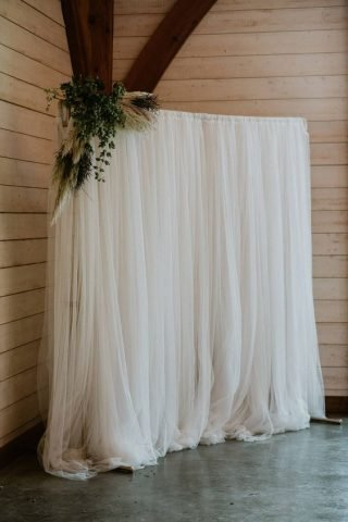 Rustykalne wesele - zasłona